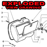 EXPLODED view drawing vespa