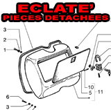 VESPA ECLATE' PIECES DETACHEES