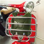 FRONT LUGGAGE CARRIER CHROME WITH GASOLINE JERRYCAN - VESPA 125 150 200