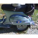 CRASH BAR VESPA SMALL FRAME WITH FOOTREST